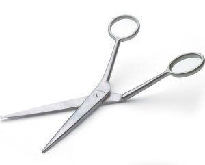 Cranked scissors