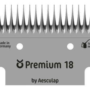 Schermesser-Set Premium, Rind, 18/17 Zähne: Untermesser
