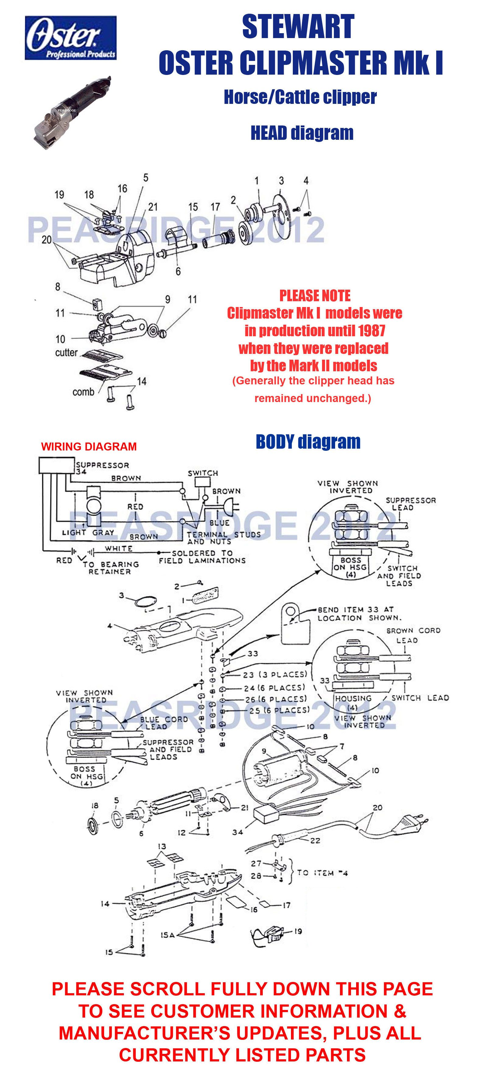 SO Clipmaster Mk I 1600 stewart oster peasridge oster clipper wiring diagram at bayanpartner.co