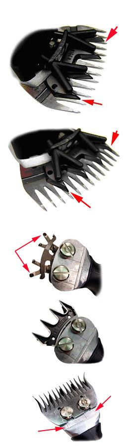 FITTING CUTTER & COMB BLADES to shearing machines heads